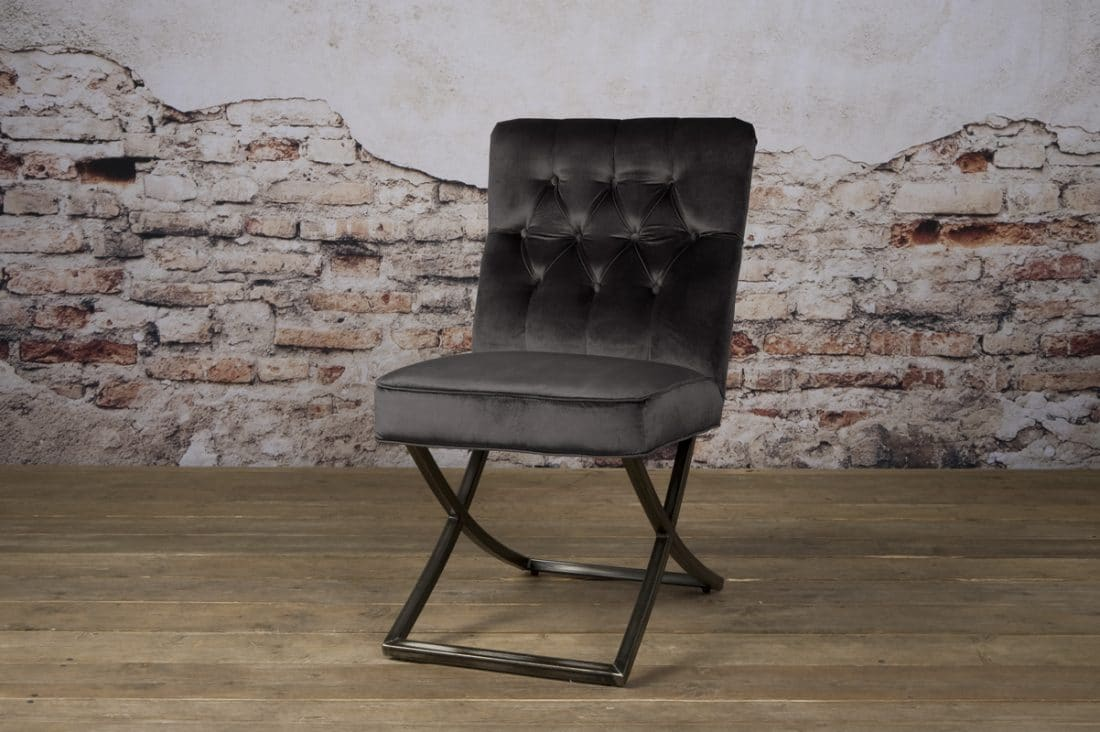 Tx 0061 Bolton Sidechair Grijs 805 V