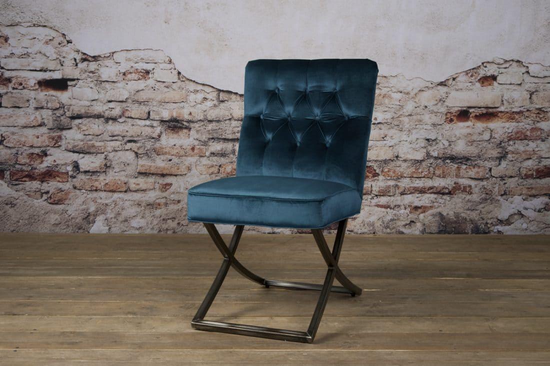 Tx 0064 Bolton Sidechair Groenblauw 603 V