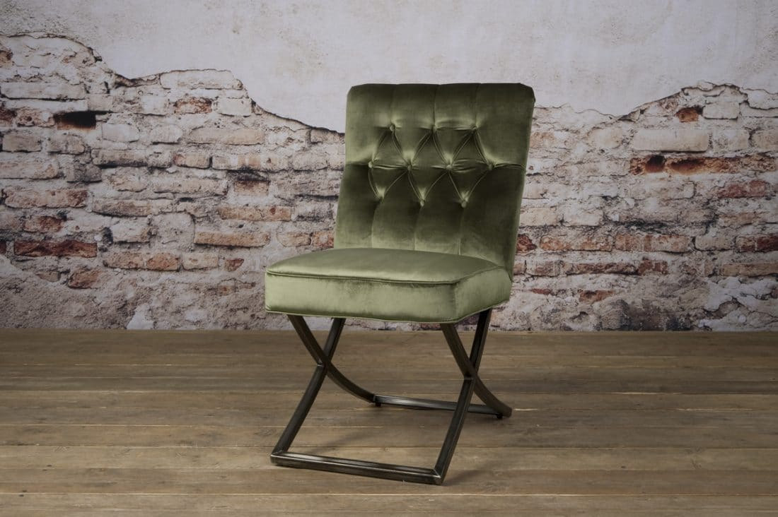 Tx 0066 Bolton Sidechair Oud Groen 504 V