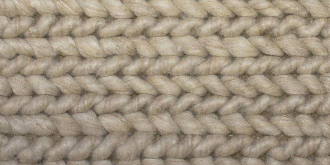 Urbansofa Vloerkleed Shantra Wool Cables Close Up