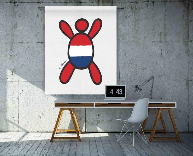 Wandkleden Happy People Nederland