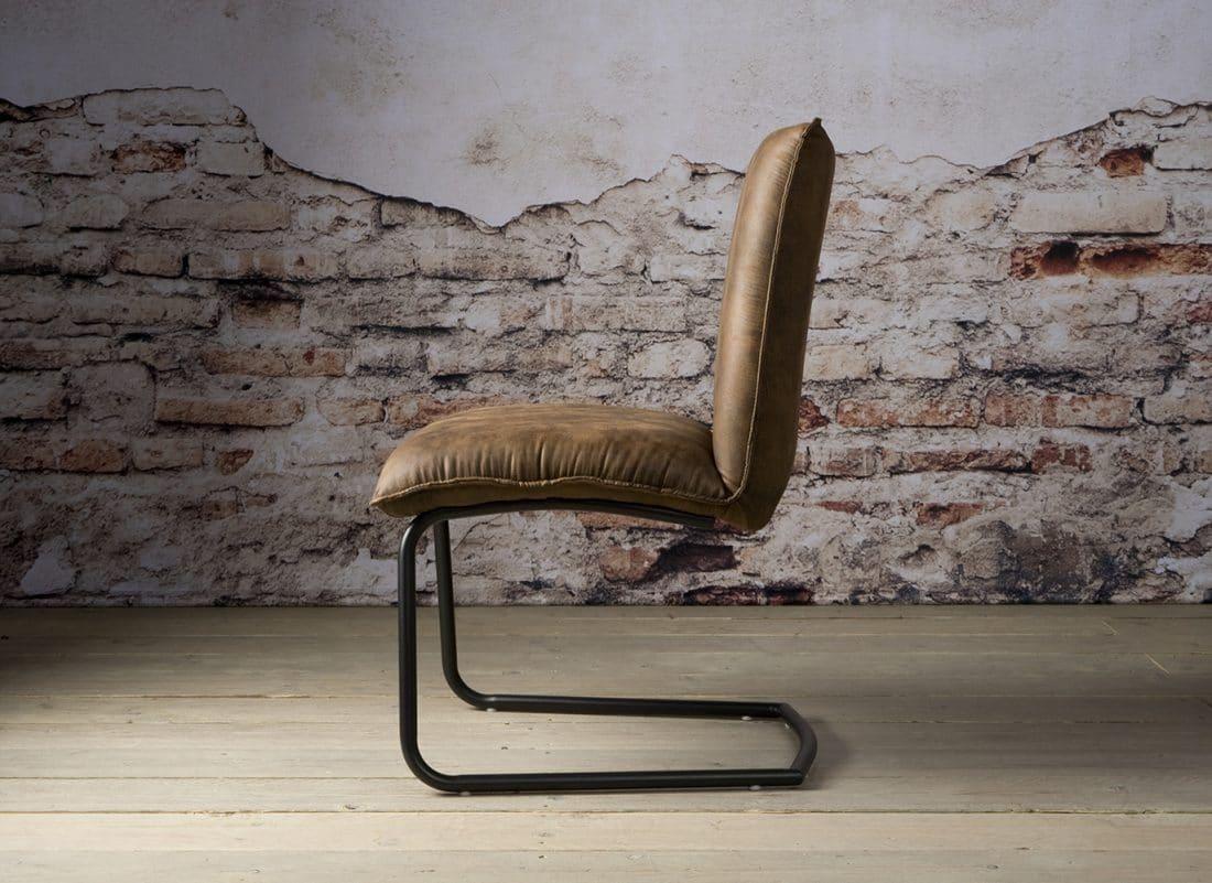 Yb 0010 Pinto Sidechair Fabric Dark Brown Z
