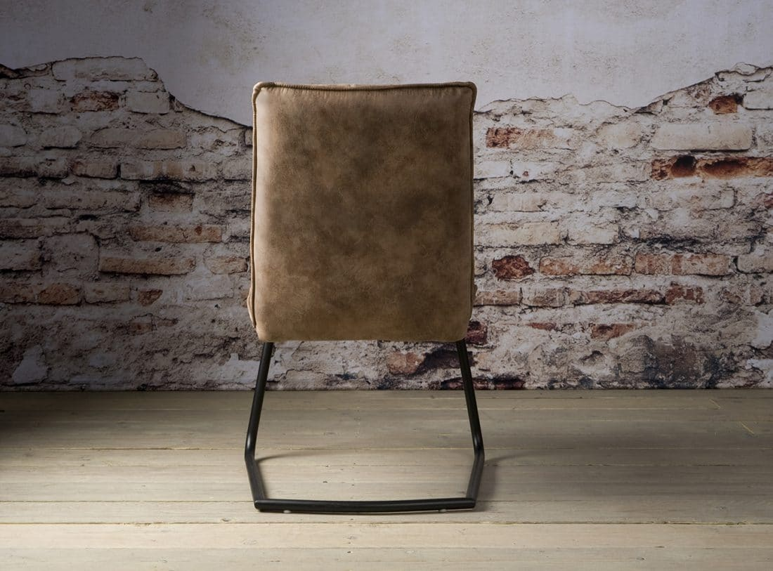 Yb 0011 Pinto Sidechair Fabric Light Brown A