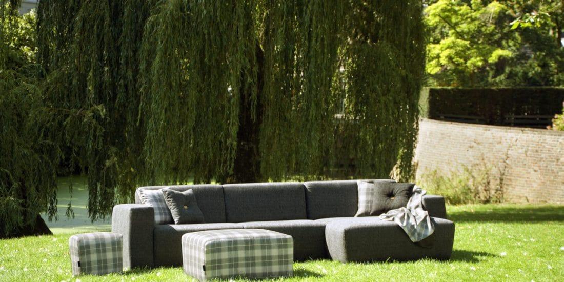 Urbansofa Outdoor Loungebank Provence Stof