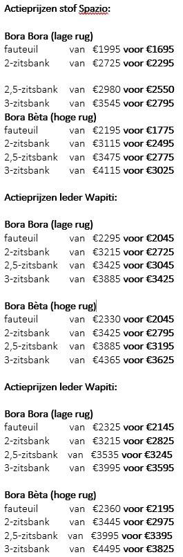 Leolux Bora Bora En Bora Bta