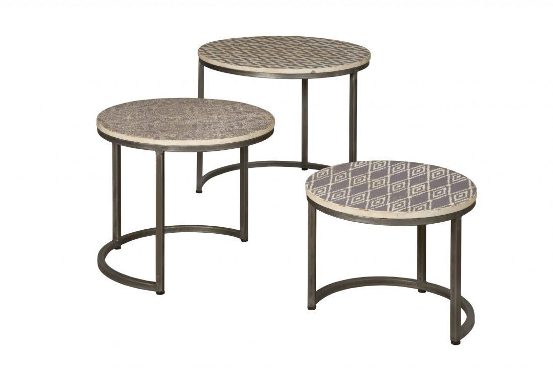 Salontafelset Tile 3 Stuks Rond
