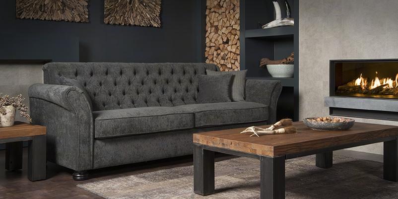 Urbansofa Calmont Gecapitonneerde 3 Zits Sofa