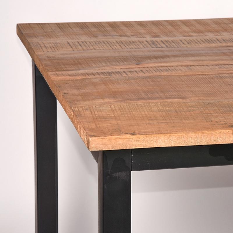Eettafel Ghent Rough Mangohout 160x90x75 Cm Detail
