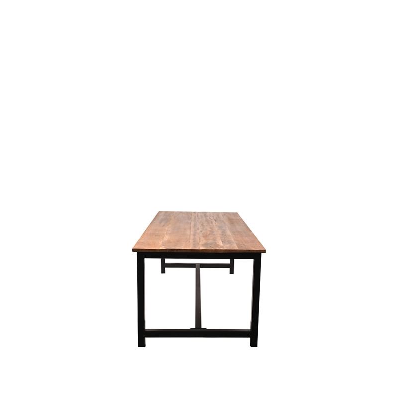 Eettafel Ghent Rough Mangohout 160x90x75 Zijkant