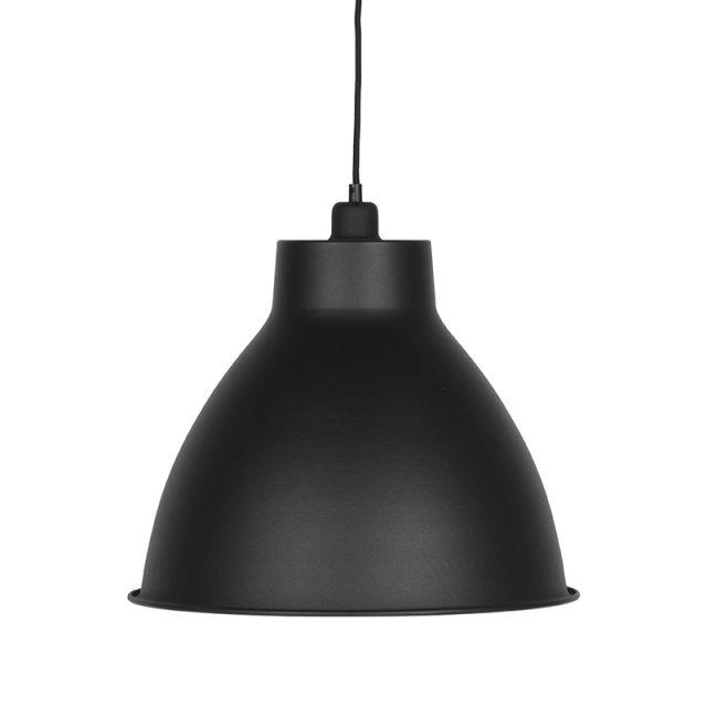 Hanglamp Dome Zwart Metaal 42x42x36 Cm Voorkant