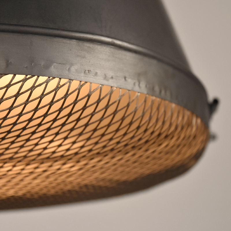 Hanglamp Gaas Raw Iron Metaal 35x35x42 Cm Detail