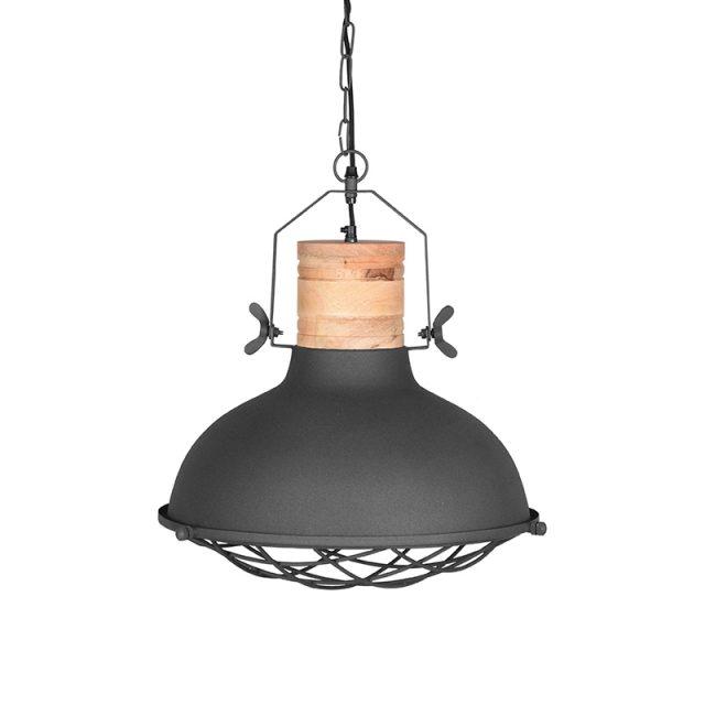 Hanglamp Grid Grijs Metaal 34x34x39 Cm Voorkant