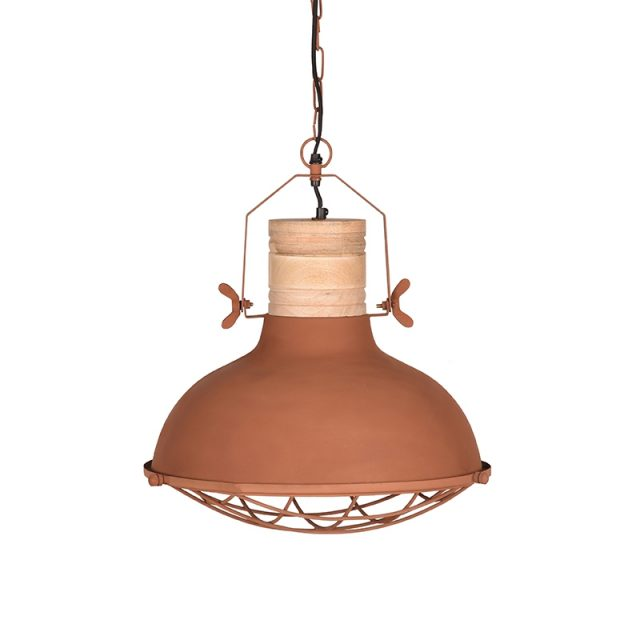 Hanglamp Grid Rust Metaal 34x34x39 Cm Voorkant