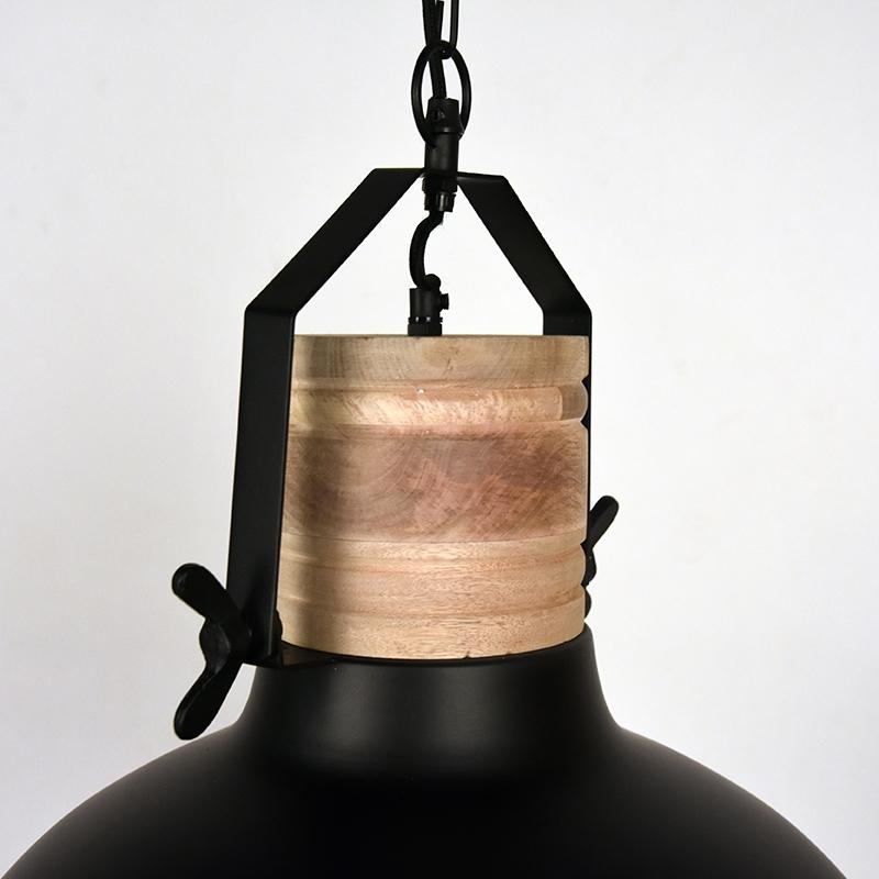 Hanglamp Grid Zwart Metaal 34x34x39 Cm Detail