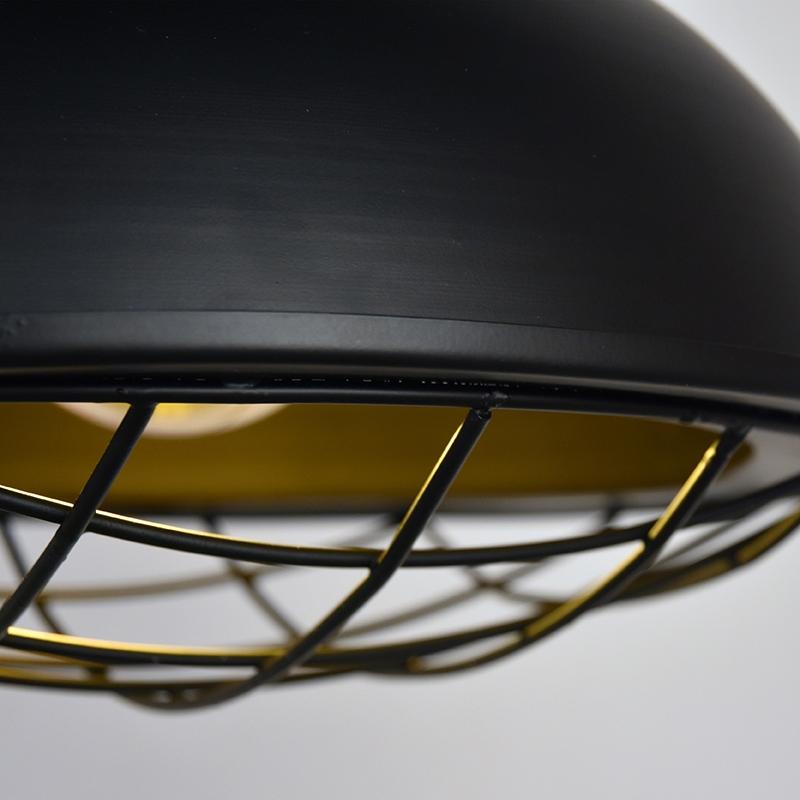 Hanglamp Grid Zwart Metaal 34x34x39 Cm Detail 2