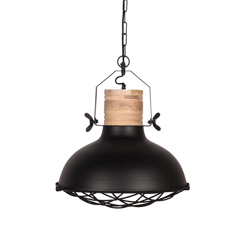 Hanglamp Grid Zwart Metaal 34x34x39 Cm Voorkant