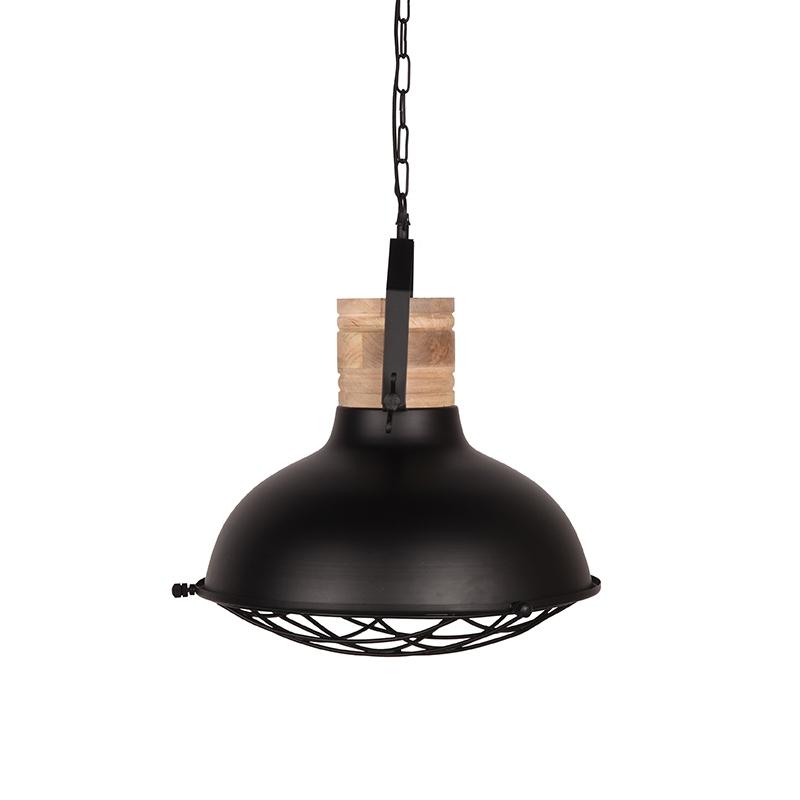 Hanglamp Grid Zwart Metaal 34x34x39 Cm Zijkant