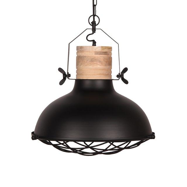 Hanglamp Grid Zwart Metaal 52x52x48 Cm Voorkant