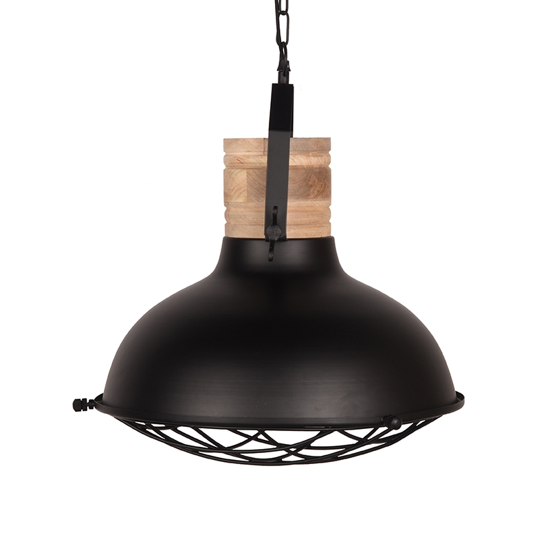 Label51 8211 Hanglamp Grid 8211 Zwart Mangohout 8211 52 Cm