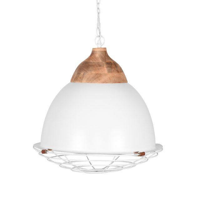Hanglamp Rootz Wit Metaal 50x50x43 Cm Voorkant