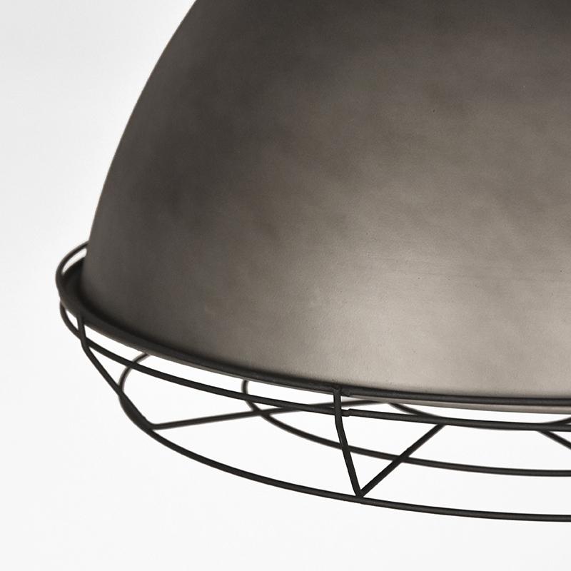 Hanglamp Spot Burned Steel Metaal 47x47x45 Cm Detail