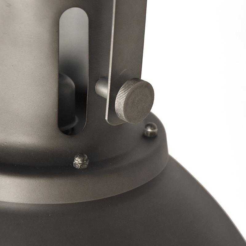 Hanglamp Spot Burned Steel Metaal 47x47x45 Cm Detail 2