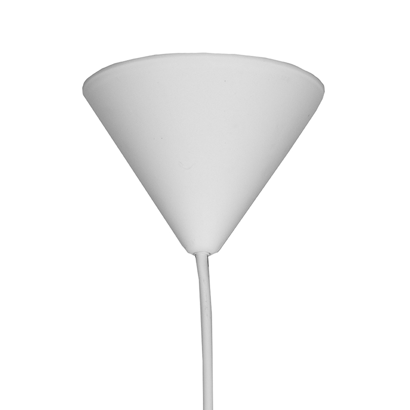 Hanglamp Twist Wit Vlas 30x30x30 Cm Plafondplaat
