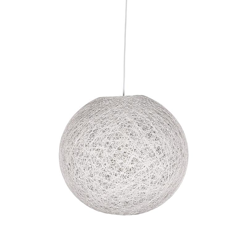 Hanglamp Twist Wit Vlas 30x30x30 Cm Voorkant 1