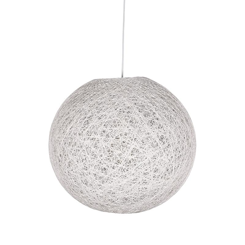 Hanglamp Twist Wit Vlas 45x45x45 Cm Voorkant 1