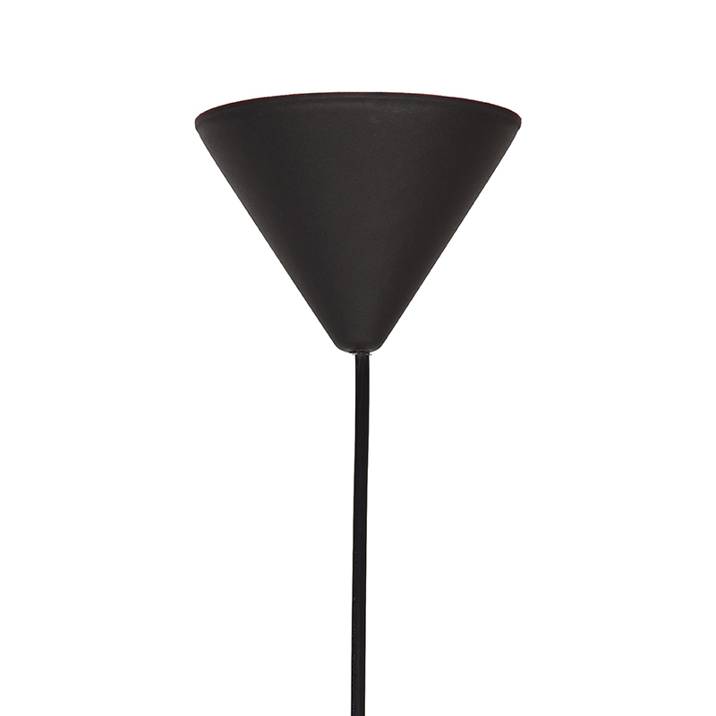 Hanglamp Twist Zwart Vlas 30x30x30 Cm Plafondplaat