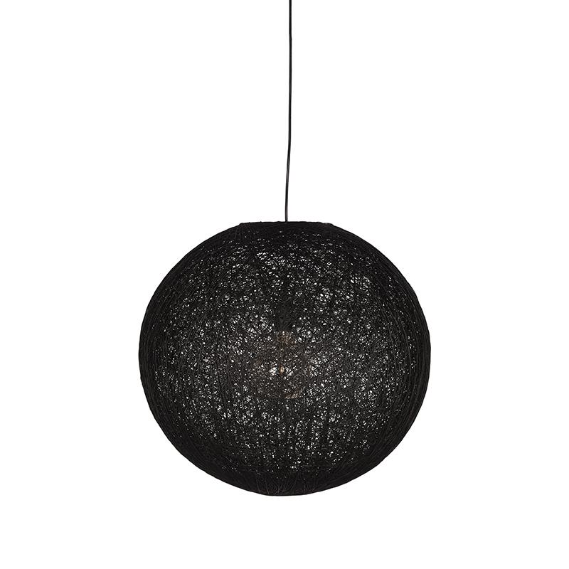 Hanglamp Twist Zwart Vlas 30x30x30 Cm Voorkant 1