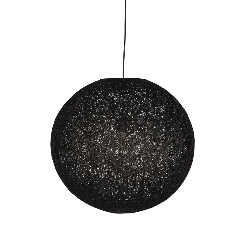 Hanglamp Twist Zwart Vlas 45x45x45 Cm Voorkant 1