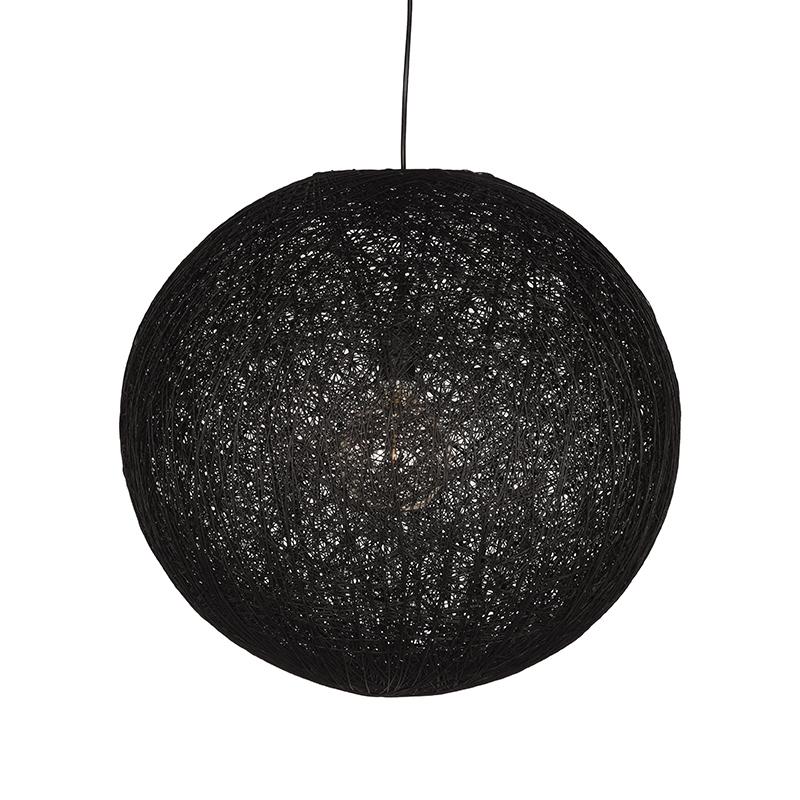 Hanglamp Twist Zwart Vlas 60x60x60 Cm Voorkant 1
