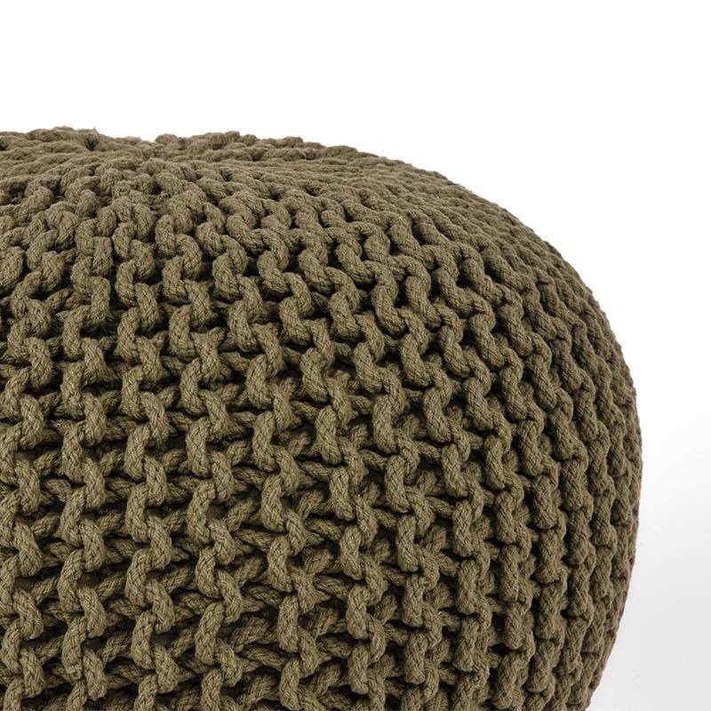 Poef Army Katoen 50x50x35cm Detail 1