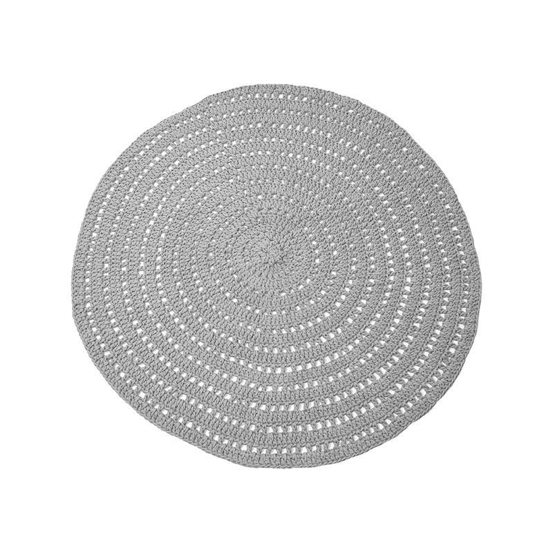 Label51 8211 Vloerkleed Knitted 8211 Grijs 8211 150 Cm