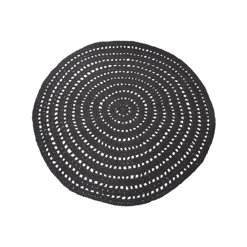 Label51 8211 Vloerkleed Knitted 8211 Zwart 8211 150 Cm
