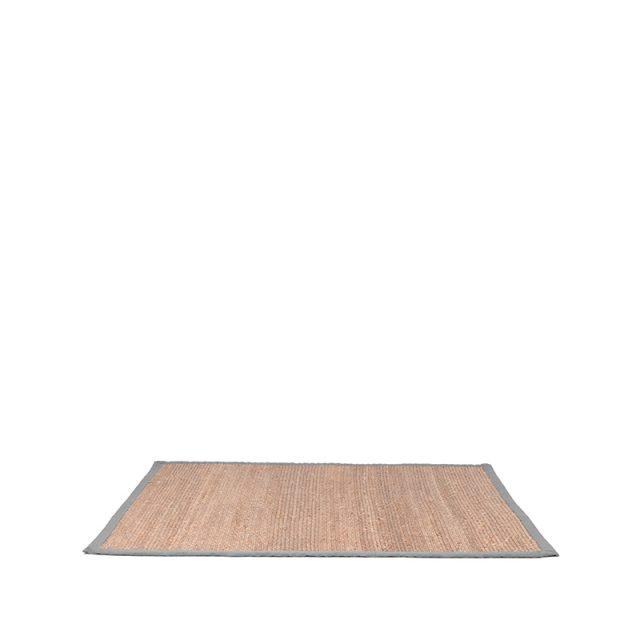 Vloerkleed Jute Grijs Katoen 230x160 Cm