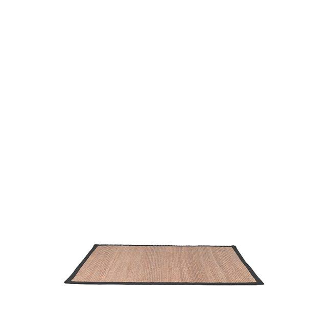 Vloerkleed Jute Zwart Katoen 160x140 Cm
