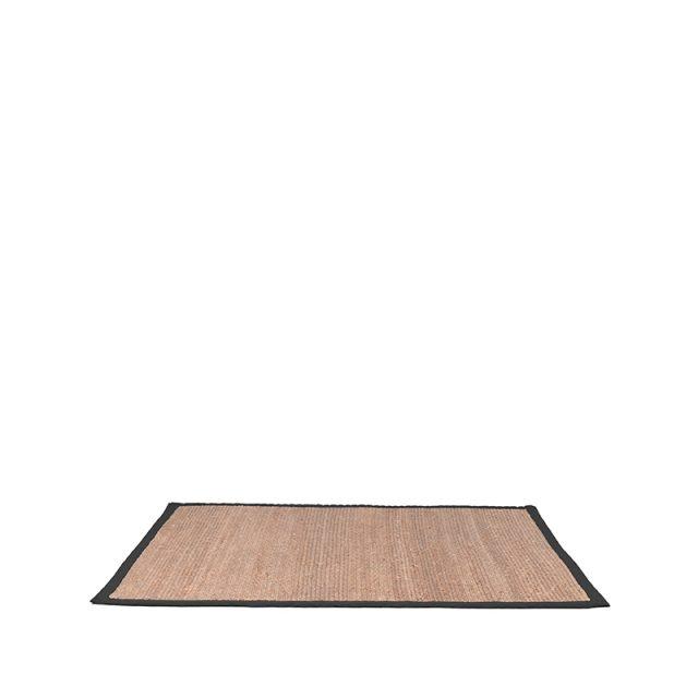 Vloerkleed Jute Zwart Katoen 230x160 Cm