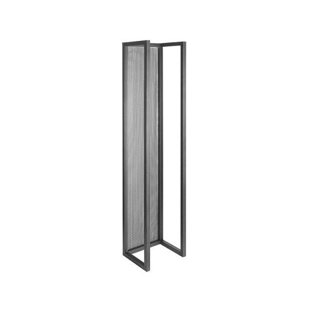 Haardhout Rek Zwart Metaal 30x25x140 Cm