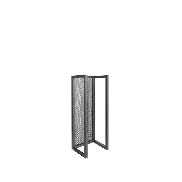 Haardhout Rek Zwart Metaal 30x25x80 Cm