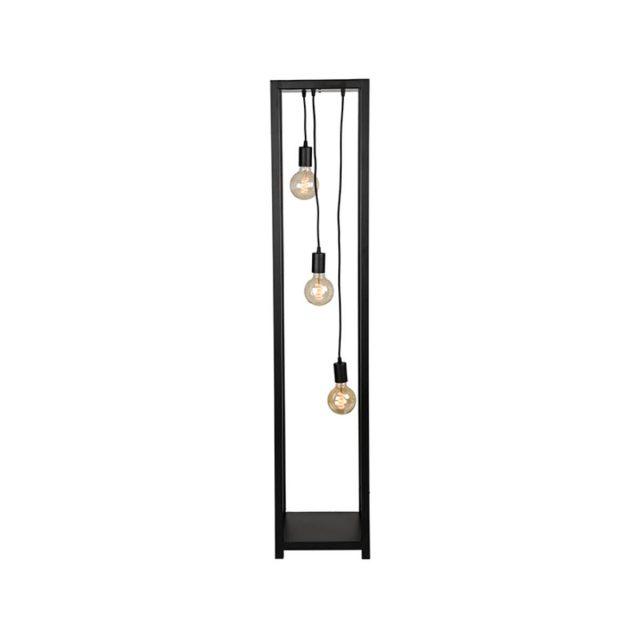 Vloerlamp Dangle Zwart Metaal 30x30x150 Cm Vooraanzicht Aan