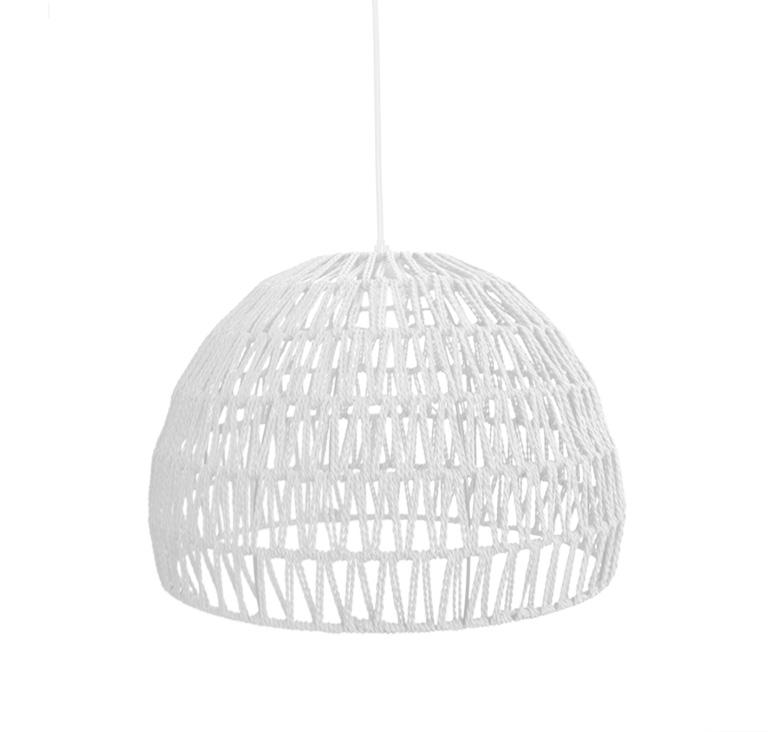 Label51 Hanglamp Rope 8211 Wit 8211 Stof 8211 L