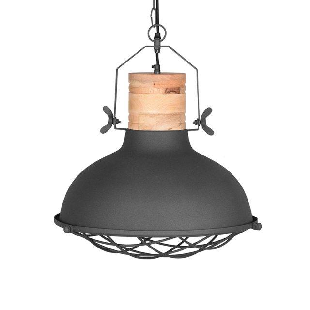 Hanglamp Grid Grijs Metaal 52x52x48 Cm Voorkant
