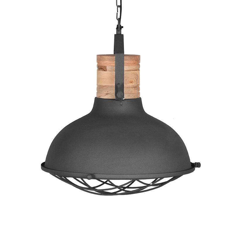 Label51 8211 Hanglamp Grid 8211 Grijs 8211 Mangohout 8211 52 Cm