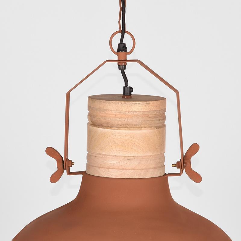 Label51 8211 Hanglamp Grid 8211 Rust 8211 Mangohout 8211 52 Cm