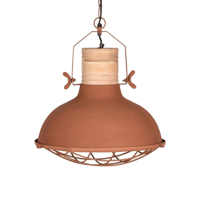 Hanglamp Grid Rust Metaal 52x52x48 Cm Voorkant