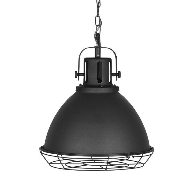 Hanglamp Spot Zwart Metaal 47x47x45 Cm Voorkant Korf