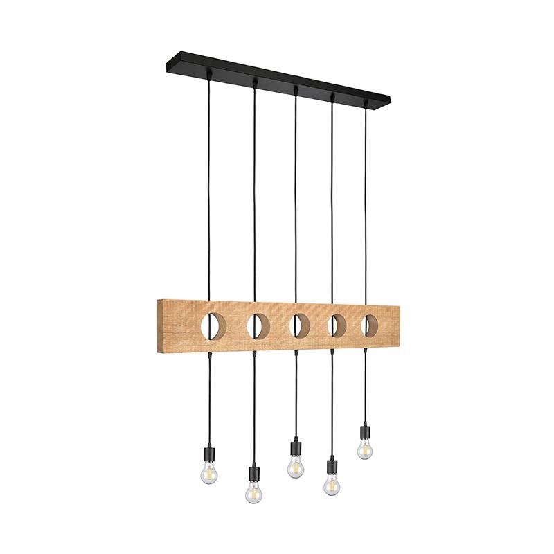 Label51 8211 Hanglamp Timber 8211 Rough Zwart