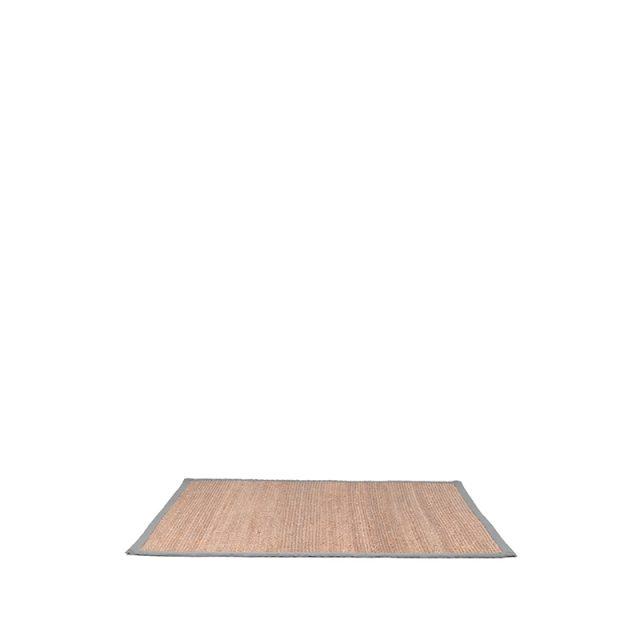 Vloerkleed Jute Grijs Katoen 160x140 Cm